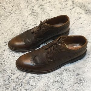Frye James Wingtip Brown Leather shoes Size 10